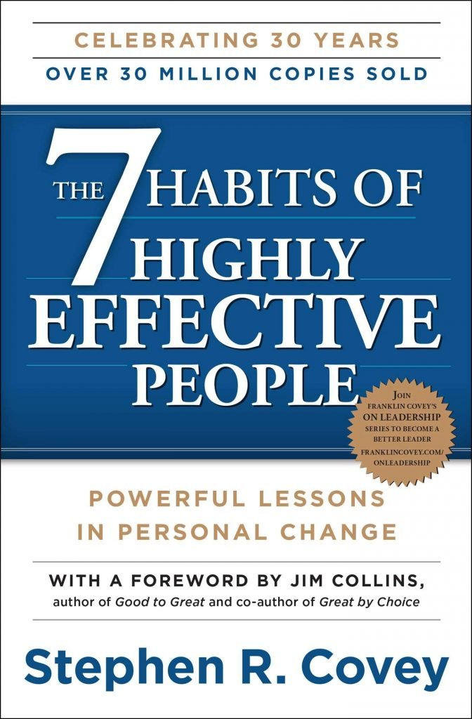 The 7 Habits of Highly Effective People by Stephen R. Covey - must read books for an entrepreneur
