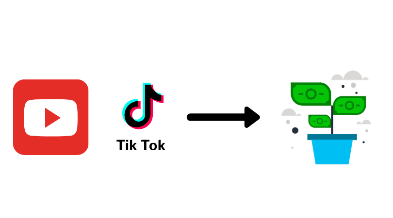 Youtube/ tiktok as a way to make money online in India